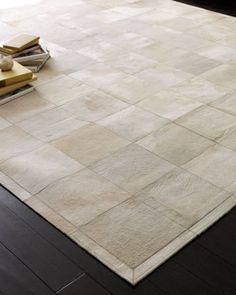 """Pearl Blocks"" Rug at Horchow"