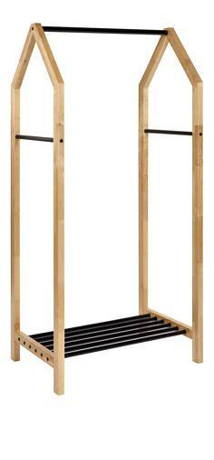 Gitta - Portant en bois et métal noir - Habitat