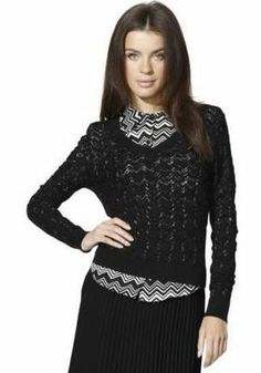 NWT Missoni for Target Textured BLACK V-Neck Rayon Sweater Pullover sz S Zig Zag