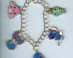 Super Cute!  DISNEY STITCH, Scrump Doll from Lilo and Stitch Character Charm Bracelet