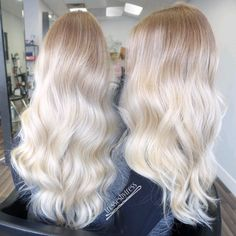 Baby blonde platinum balayage ombré