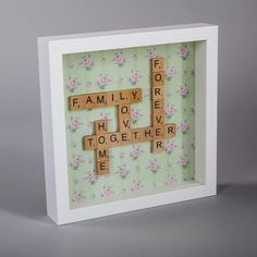 Scrabble Family You are in the right place about Frame Crafts paint Here we offer you the most beautiful pictures about the Frame Crafts for boyfriend you are looking for. When you examine the Scrabbl Scrabble Letter Crafts, Scrabble Tile Crafts, Scrabble Board, Scrabble Letters, Scrabble Ornaments, Family Scrabble Art, Box Frame Art, Diy Frame, Deep Box Frames