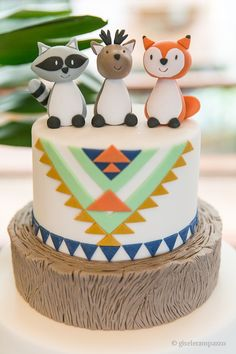Boys 1st Birthday Cake, One Year Birthday, Little Boy Cakes, Cakes For Boys, Fox Cake, Fox Party, Animal Cakes, Yummy Cakes, Fun Desserts