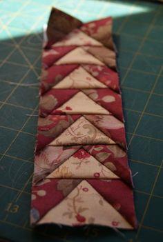 croixpatch tuto vol d'oie couture papier
