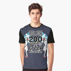 Greek Independence, Greek Flag, My T Shirt, Vivid Colors, Female Models, Revolution, Shirt Designs, Printed, Celebrities