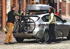 Suportes para transporte da bicicleta