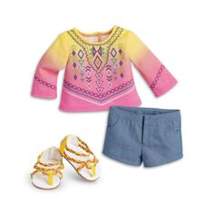 American Girl LEA CLARK GOTY 2016 BAHIA OUTFIT SET ONLY NO DOLL NIB #AmericanGirl #ClothingShoes
