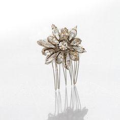 Elegant simple design that shines. Meg Jewelry - Alissa Comb - Elegant Bridal Designs $90.00
