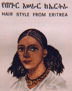 Hair Style From #Eritrea with #Ethiopia #Amharic Language