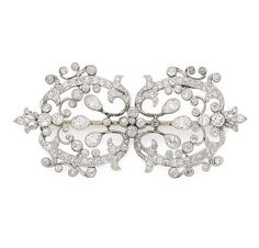 An early 20th Century belle epoque diamond brooch