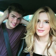 """2 actors in a car for an hour = 24568000000 selfies and not liking one of them.... """"Bad lighting"""" """"my hair"""" """"my face"""" """"my double chin"""". (Hence, ears looked huge so i just decided to cover them up).  @bellathorne"""