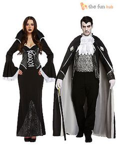 Mens + #ladies gothic vampire dracula costumes #couples halloween #fancy dress, View more on the LINK: http://www.zeppy.io/product/gb/2/201415829652/