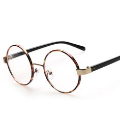 cdc1409a775 Male and female factory direct wholesale fashion retro big round glasses  frame glasses hot K8024-