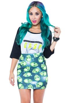 "IRON FIST ""Area 51"" skirt - size XL"