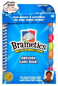 Brainetics - Awesome Game Book - BONUS BOOK - Exercise your brain with Mind Athletics! Mike Byster's collection of brain games and mind athletics will help keep your whole family sharp! Compete, laugh and learn with your friends and family with games like: The Alphabet Game, The Last Letter Game, Twenty Four, Initial Game, Bizz Buzz, and Ghost.