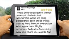 Federation Tuckpointing® - 9242 2952 What is tuckpointing? Broomfield Colorado, Five Star, Working Area, Accounting, Stars, Amazing, Cleaning, Sterne, Star