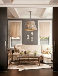 Going all neutral!  Can you mix grey and beige? + e-design lighting plan