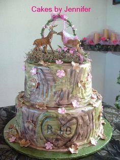 Pink Camo Wedding Cakes | Camo and pink Browning logo wedding cake ...