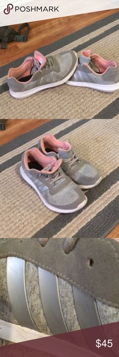 Adidas knit gray shoes cute Adidas adidas Shoes Athletic Shoes