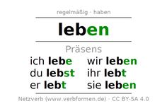 Präsens des Verbs können | Pinterest | Learn german and Language