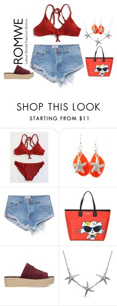 """romwe"" by kim-coffey-harlow ❤ liked on Polyvore featuring OneTeaspoon, Karl Lagerfeld, Vince and Bling Jewelry"
