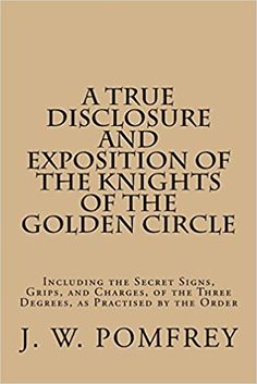 Art Illustrated Book Secession of Knights of the Golden Circle Framed Print