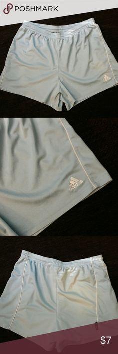 ADIDAS ATHLETIC SHORTS Like new. Light blue. Climate Control. Polyester. Adidas Shorts