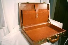 Vintage Wooden Briefcase 1960s by PinniePieGoods on Etsy
