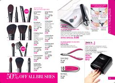 50% off high quality makeup brushes.  Nail tools, too.