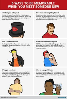 Six Ways To Be Memorable When Meeting Someone New