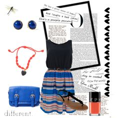 """blue stripes dress"""