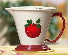 Image detail for -Apple Decor Ceramic Measuring Cup (3 Cup Measure) - Measuring Tools