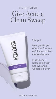 This Multi-Med® Therapy Regimen clears existing acne and prevents new blemishes from forming. Includes Acne Treatment Sulphur Wash - our cleanser contains Sulphur to unclog pores and visibly reduce redness. Unblemish Rodan And Fields, Rodan Fields Skin Care, Adult Acne Treatments, Rodan And Fields Consultant, Rodan And Fields Products, Rodan And Fields Business, Clean Sweep, Acne Solutions, Acne Prone Skin