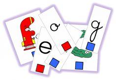 Lettres mobiles (script, cursive et alphas)