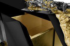DIAMOND METAMORPHOSIS SIDEBOARD By Boca do Lobo | www.bocadolobo.com #luxuryfurniture #interiordesign #inspirations #homedecorideas #exclusivedesign #sideboard #contemporarylivingroom #diamond #metamorphosis