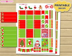 Christmas Weekly Kit - Dont run out of stickers anymore with Printable Planner Stickers for Erin Condren - Mambi happy planner - filofax