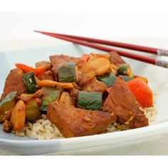 Slow Cooker Vegetarian Chinese Barbecue Tofu and Vegetables