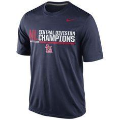 St. Louis Cardinals 2014 NL Central Division Champions Dri-FIT Legend T-Shirt - MLB.com Shop