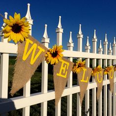 Sunflower Banner Welcome Baby Shower Bridal Shower