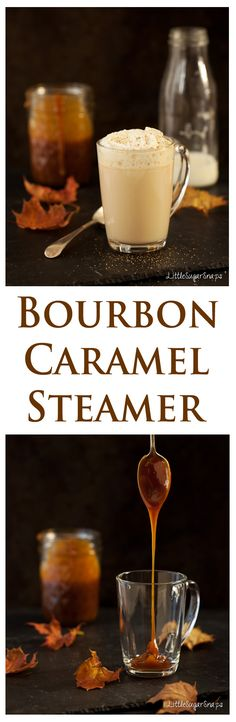 Feel warm and cosy with this delicious blend of milk, caramel and just a hint of Bourbon. The Bourbon Caramel Steamer is guaranteed to get you through the autumn and winter in style. #bourbon #caramel #caramellatte #bourbonmilk