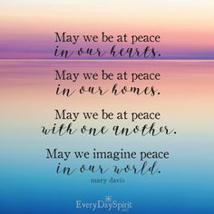 When we have peace within, we have the foundation of peace in our homes, with one another and in our world. So finding that calm center inside of us can offer stress relief and greater health, while contributing to peace on earth. A win-win if ever there was one. Let's walk in peace today. Come on over and get your copy of Every Day Spirit: A Daybook of Wisdom, Joy and Peace - and the app of mobile wallpapers. Make every day a little more beautiful. #inspirational #peace #peaceful