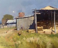 Tag PhotoOptionsShareSend Timeline Photos  Colley Whisson     Moonrise Over Warwick, Aust 10''x 11'' Oil