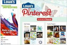 Interesting how Lowe's is leveraging Facebook + Pinterest