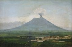 """Vesuvio"" oil on canvas 53x80 cm by E.T. 1885"