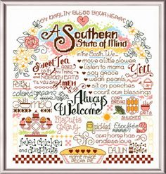 Let's Visit the South, cross stitch pattern by Ursula Michael. Download and print instantly online.