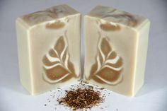 Rooibos tea soap - ghost swirl