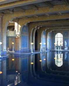 Hearst Castle, Pool under the tennis courts. Amazing.
