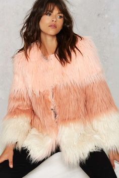 Pastel It To My Heart Coat - Cold Weather Gear | All | Best Sellers | Party Shop | Faux Fur | Fur