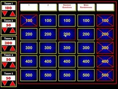 Must look at!!!!!  If you have used Jeopardy Powerpoint Templates in the past, you will be amazed at how much easier this Flash version is to create and use in the classroom