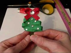 HOW TO: Make a Christmas Tree out of Ribbon Tutorial by Just Add A Bow